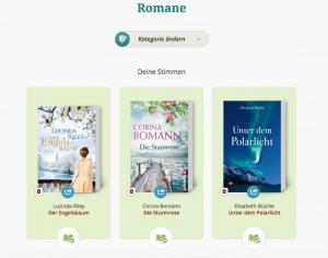 Lovelybooks Leserpreis 2015 Romane