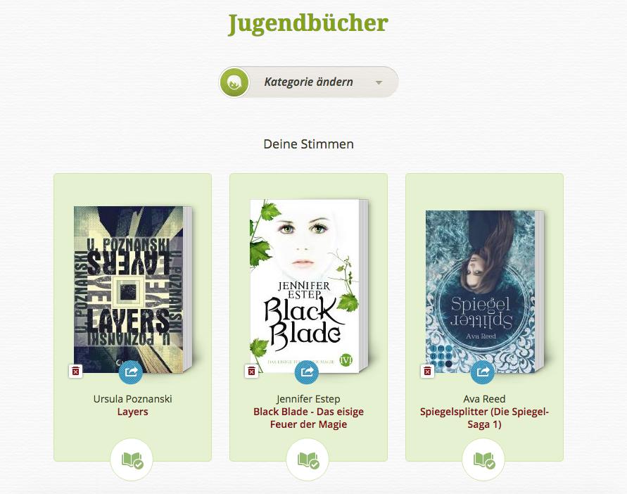 Lovelybooks Leserpreis 2015 Jugendbücher