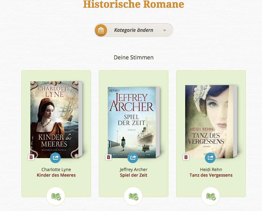 Lovelybooks Leserpreis 2015 Historische Romane