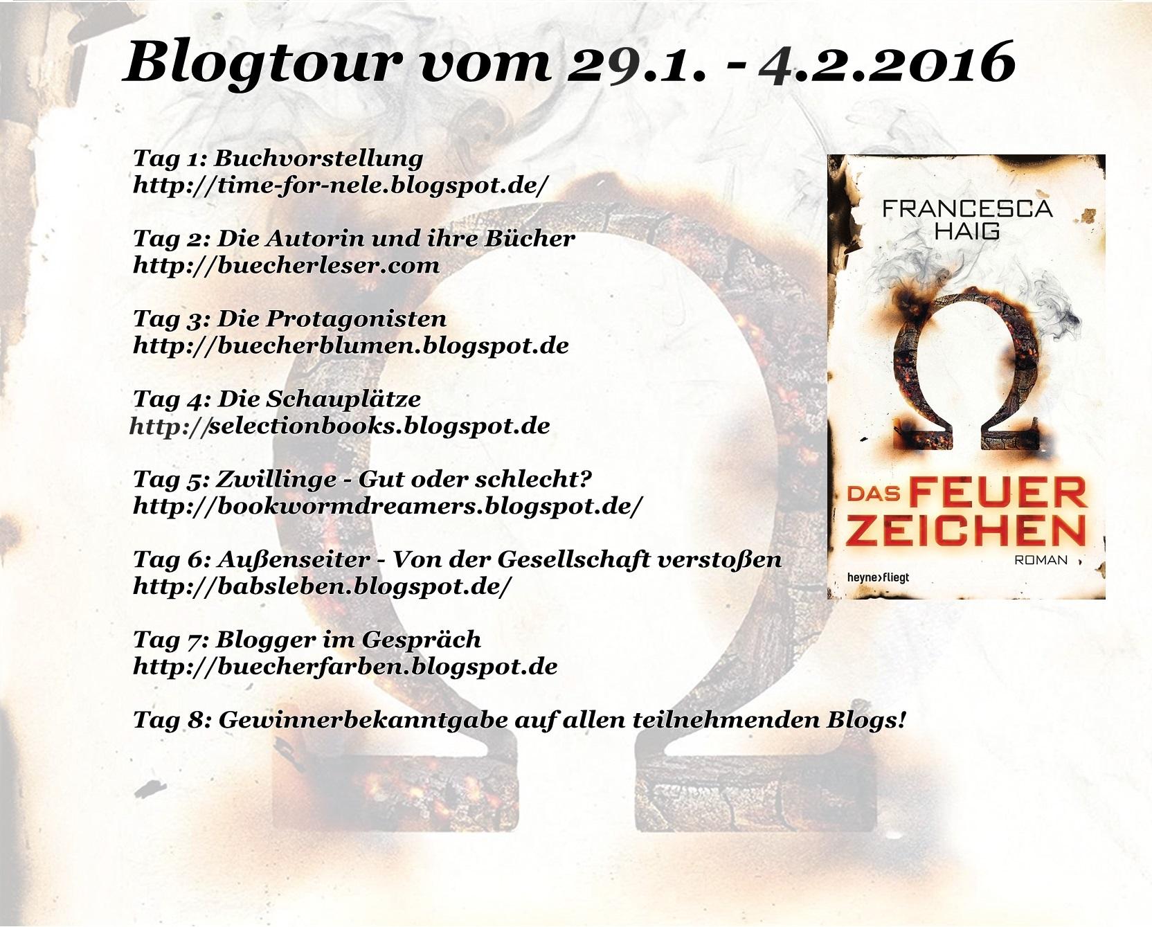 """Bannner Blogtour """"Das Feuerzeichen"""""""